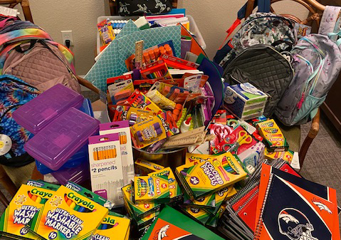 School supply donations for the kids!