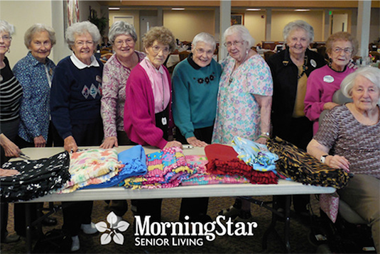MorningStar of Boise residents make blankets for<br /> local children's hospital