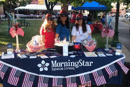 MorningStar of Santa Fe as sponsor of Rotary Club's fundraiser, Pancakes on the Plaza