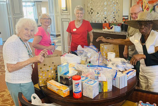 MorningStar at Golden Ridge efforts were organized through The Justa Center, with whom we filled over 60 care packages and treat bags for homeless and displaced seniors