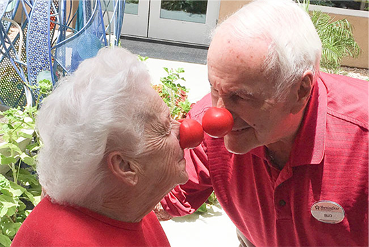 MorningStar of Fountain Hills celebrates Red Nose Day in support ending childhood poverty