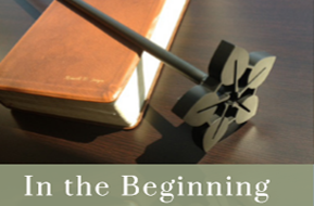 In the Beginning-morningstar logo and book