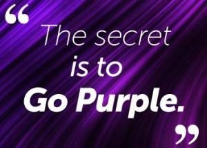 The secret to go purple