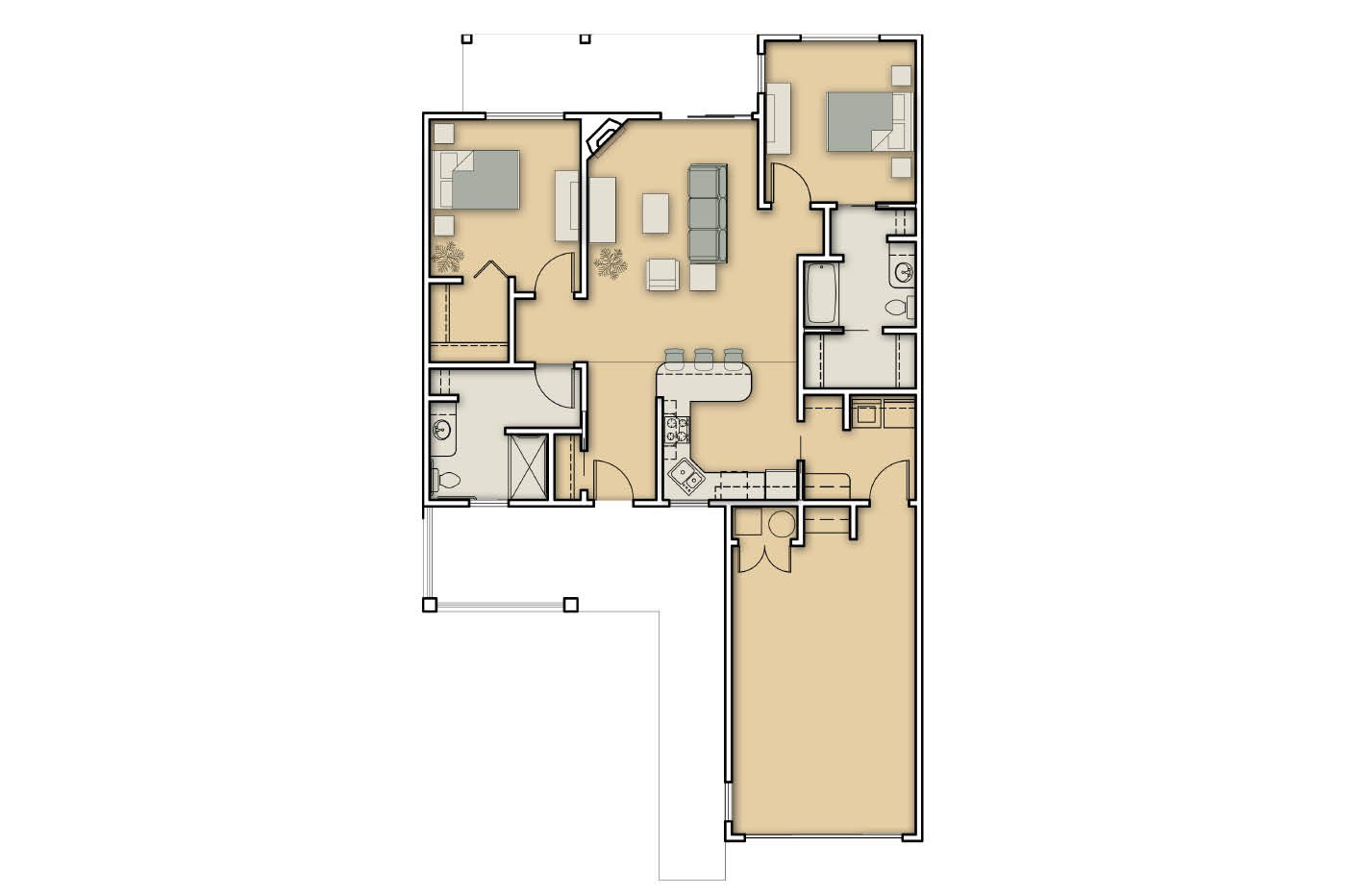 Floorplans morningstar of idaho falls senior assisted for Aging in place floor plans