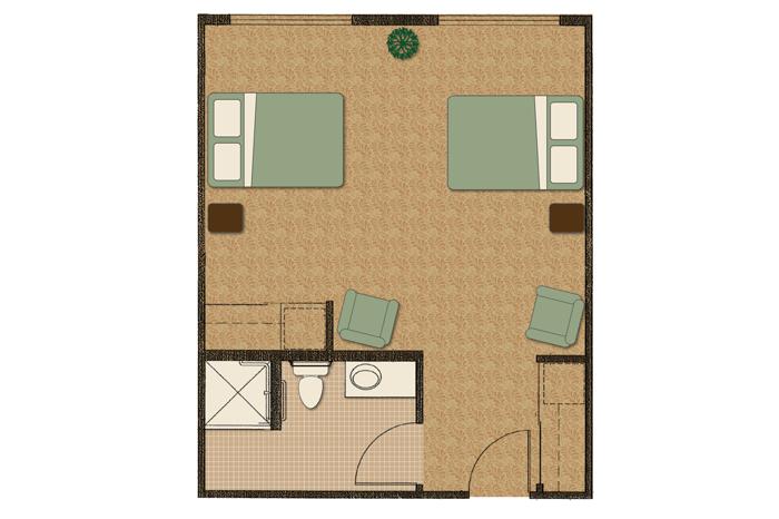 2 bed companion floorplan