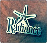 Picture of button that reads Radiance